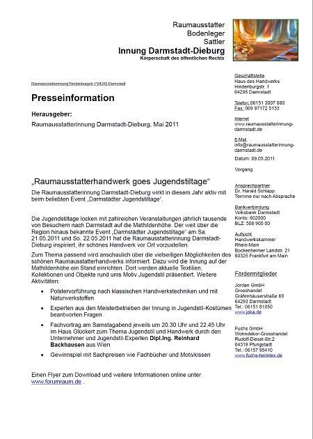 Raumausstatter Darmstadt raumausstatter handwerk goes jugendstiltage buttmi